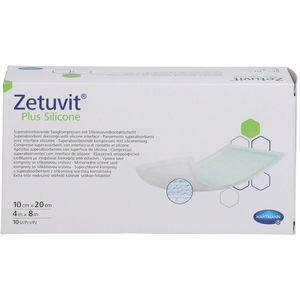 ZETUVIT Plus Silicone steril 10x20 cm