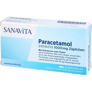 PARACETAMOL SANAViTA 1000 mg Zäpfchen