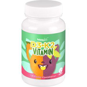 VITAMIN D3+K2 Kinder Kautabletten vegan