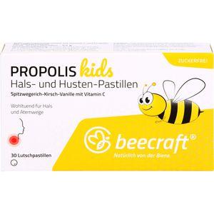 BEECRAFT Propolis Hals- und Husten-Pastillen kids