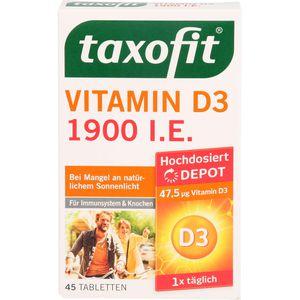 TAXOFIT Vitamin D3 1900 I.E. Depot Tabletten