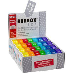 ANABOX 1x7 Regenbogen m.Fachteilern