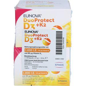EUNOVA DuoProtect D3+K2 1.000 I.E./80 μg Kps.Kombi