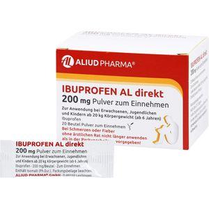 IBUPROFEN AL direkt 200 mg Pulver zum Einnehmen