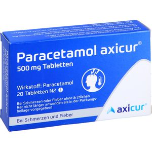 PARACETAMOL axicur 500 mg Tabletten