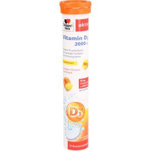 DOPPELHERZ Vitamin D3 2000 I.E. Brausetabletten