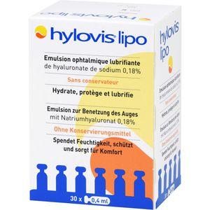 HYLOVIS lipo Augentropfen Einzeldosispipetten