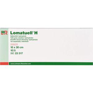 LOMATUELL H Salbentüll 10x30 cm steril
