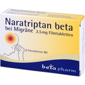 NARATRIPTAN beta bei Migräne 2,5 mg Filmtabletten