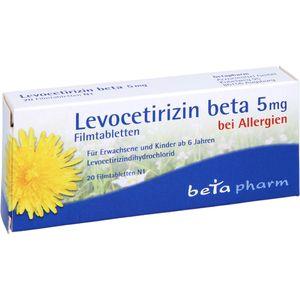 LEVOCETIRIZIN beta 5 mg Filmtabletten