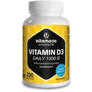 VITAMIN D3 1.000 I.E. daily vegetarisch Tabletten