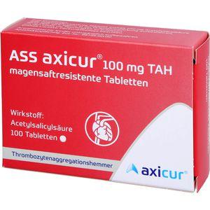 ASS axicur 100 mg TAH magensaftres.Tabletten