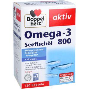 DOPPELHERZ Omega-3 Seefischöl 800 aktiv Kapseln