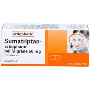 SUMATRIPTAN-ratiopharm bei Migräne 50 mg Filmtabl.