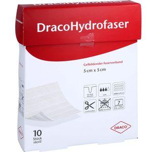 DRACOHYDROFASER 5x5 cm gelbildender Faserverband