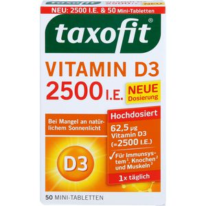 TAXOFIT Vitamin D3 2500 I.E. Tabletten