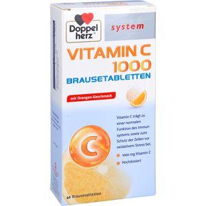 DOPPELHERZ Vitamin C 1000 system Brausetabletten