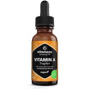 VITAMIN A 500 μg hochdosiert vegan Tropfen