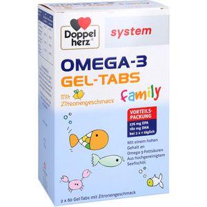 DOPPELHERZ Omega-3 Gel-Tabs family system