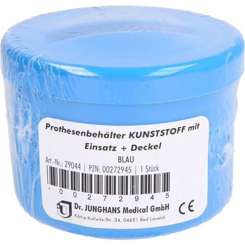 PROTHESENBEHÄLTER Kunststoff mit Deckel blau