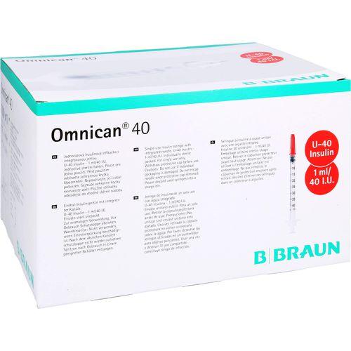 OMNICAN Insulinspr.1 ml U40 m.Kan.0,30x8 mm einz.