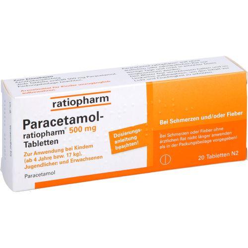 PARACETAMOL-ratiopharm 500 mg Tabletten