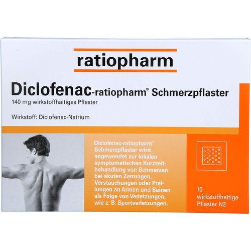 Diclofenac Ratiopharm Schmerzpflaster 10 St Muskeln Gelenke Alle Kategorien Bio Apo Com Bio Apo Com Homoopathie Naturheilmittel Medikamente Und Mehr