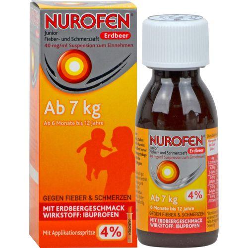 NUROFEN Junior Fieber-u.Schmerzsaft Erdbe.40 mg/ml