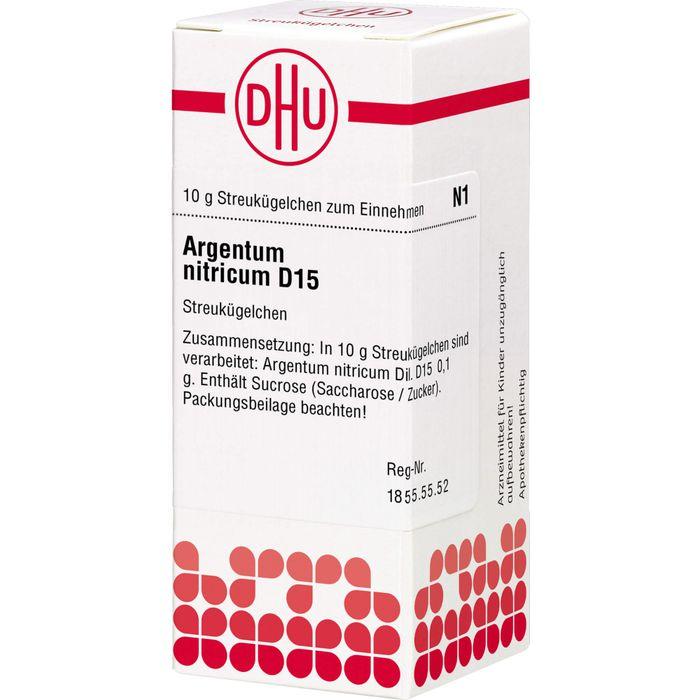 ARGENTUM NITRICUM D 15 Globuli