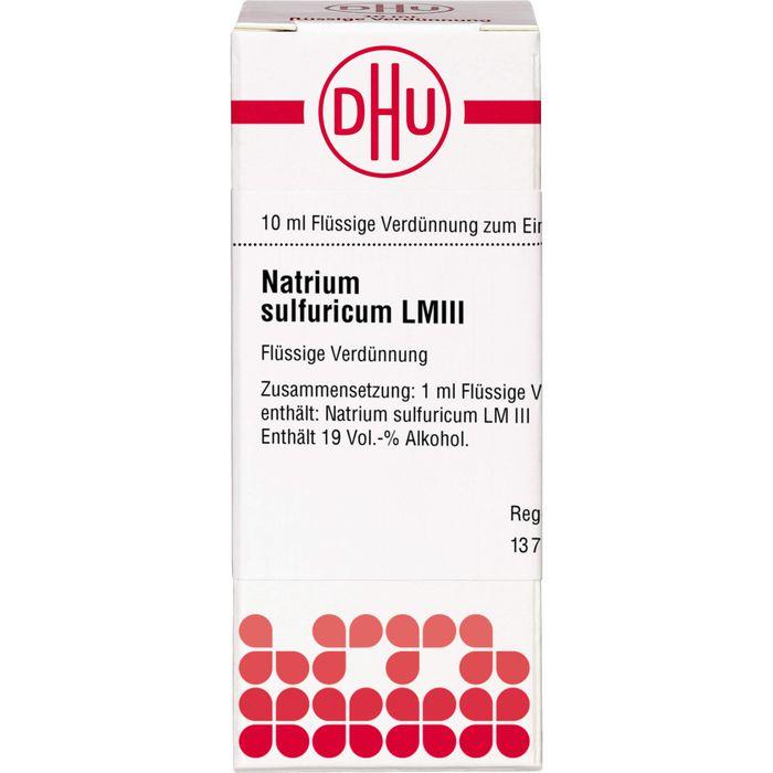 LM NATRIUM sulfuricum III Dilution
