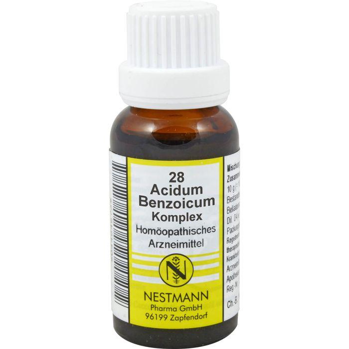 ACIDUM BENZOICUM KOMPLEX Nr.28 Dilution
