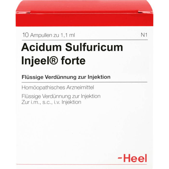ACIDUM SULFURICUM INJEEL forte Ampullen