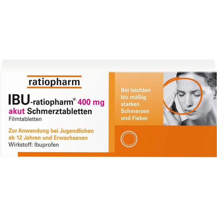 IBU-RATIOPHARM 400 mg akut Schmerztbl.Filmtabl.