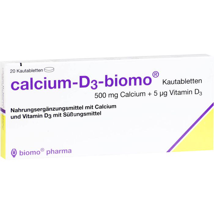CALCIUM-D3-biomo Kautabletten 500+D