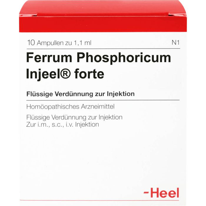 FERRUM PHOSPHORICUM INJEEL forte Ampullen