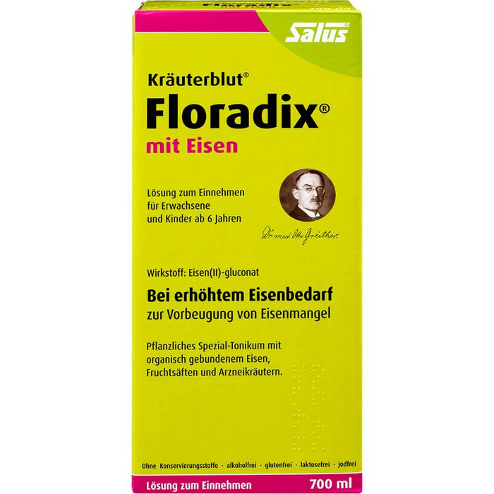 FLORADIX mit Eisen Lösung zum Einnehmen