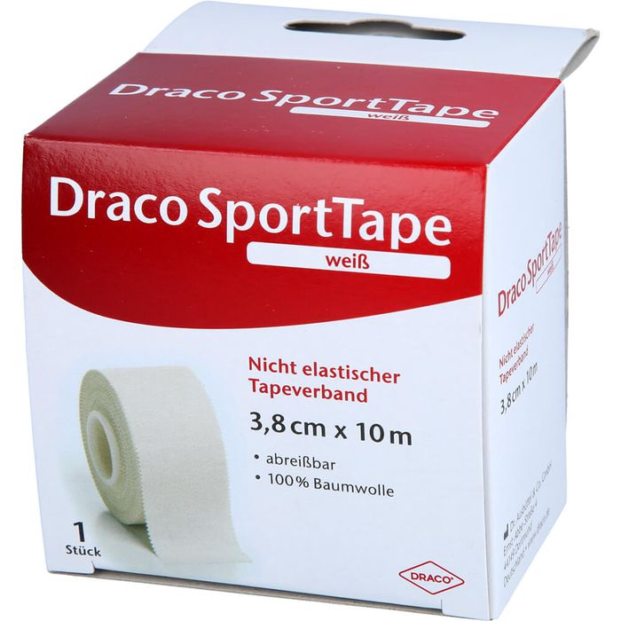DRACO TAPEVERBAND 3,8 cmx10 m weiß
