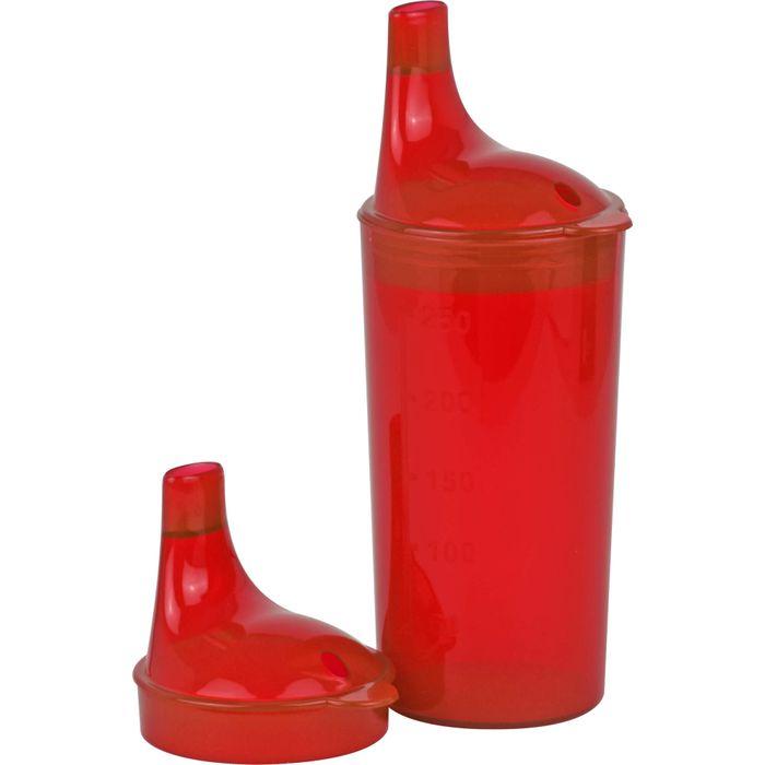 TRINKBECHER mit 2 Deckeln rot