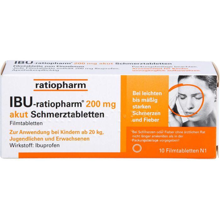 IBU-RATIOPHARM 200 mg akut Schmerztbl.Filmtabl.