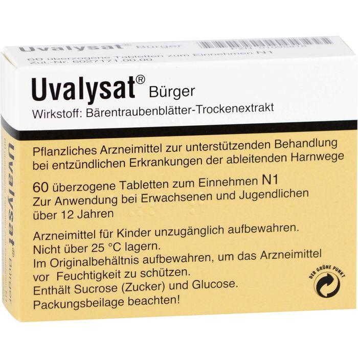 UVALYSAT Bürger überzogene Tabletten