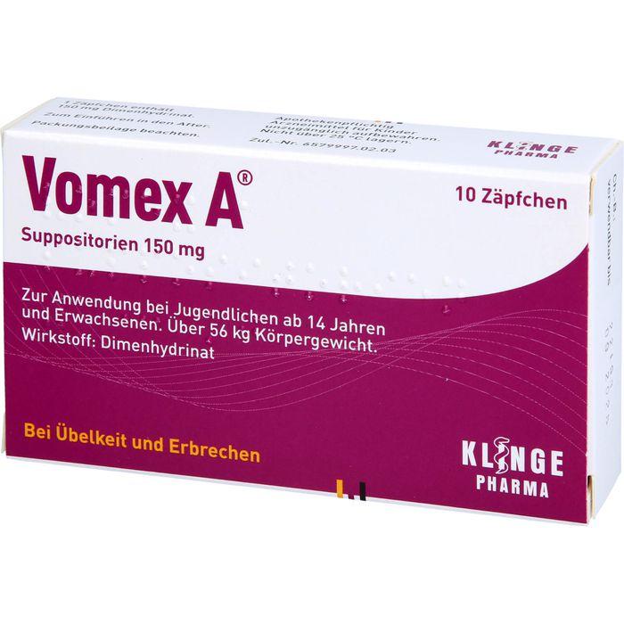 VOMEX A 150 mg Suppositorien