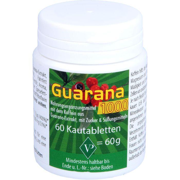 GUARANA 1000 mg Kautabletten