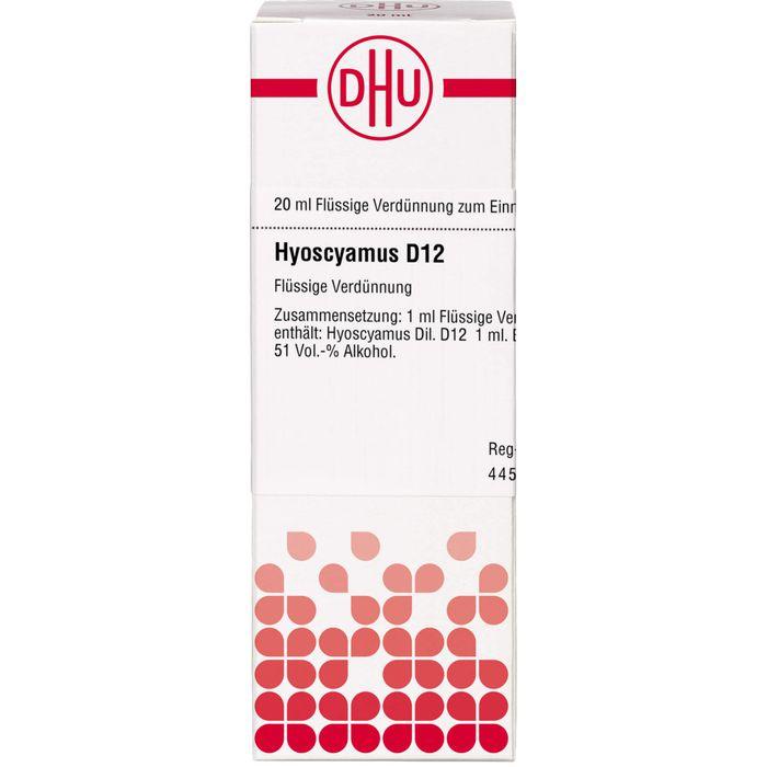 HYOSCYAMUS D 12 Dilution
