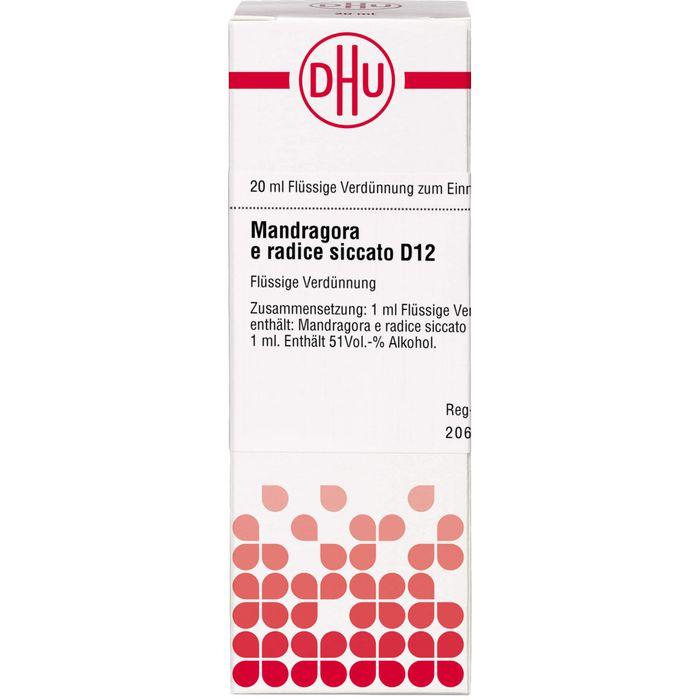 MANDRAGORA E radice siccata D 12 Dilution