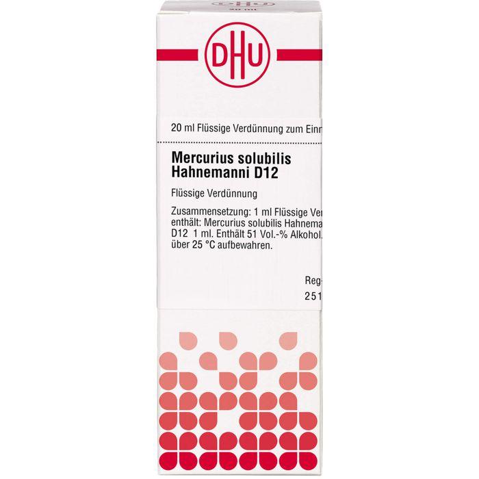 MERCURIUS SOLUBILIS Hahnemanni D 12 Dilution