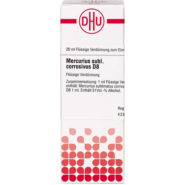 MERCURIUS SUBLIMATUS corrosivus D 8 Dilution