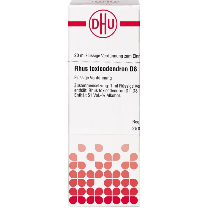 RHUS TOXICODENDRON D 8 Dilution