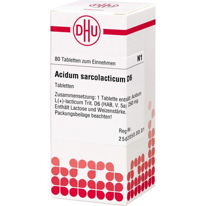 ACIDUM SARCOLACTICUM D 6 Tabletten
