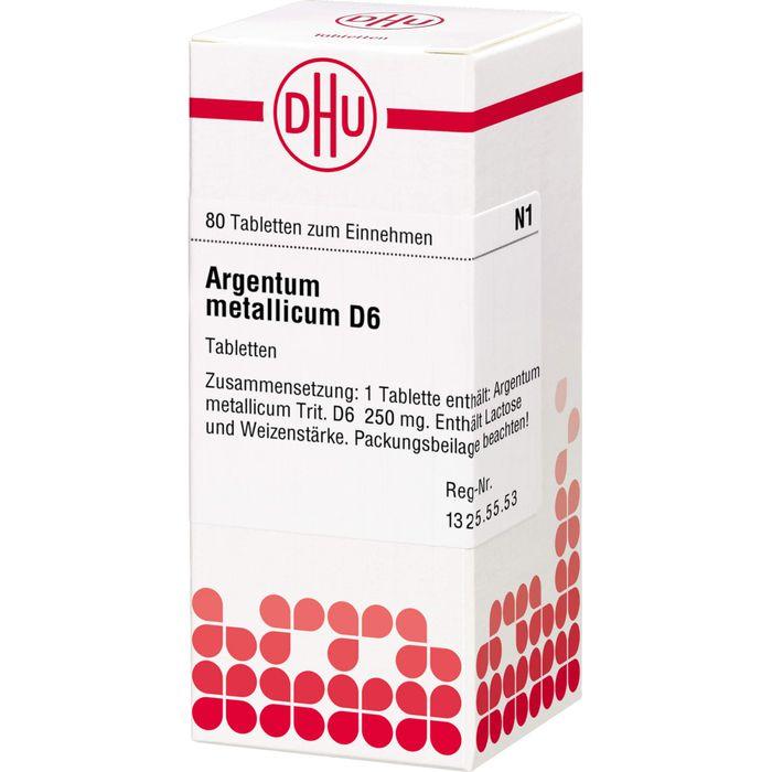 ARGENTUM METALLICUM D 6 Tabletten