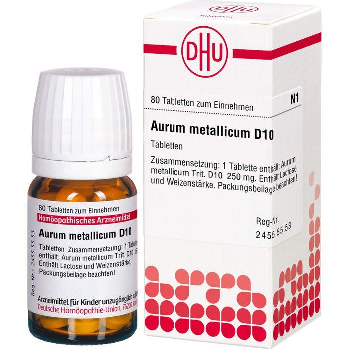 AURUM METALLICUM D 10 Tabletten